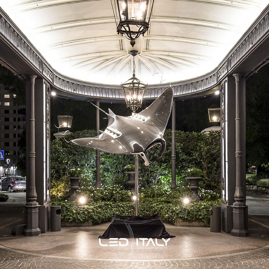 illuminazione in esterno Hotel Principe di Savoia